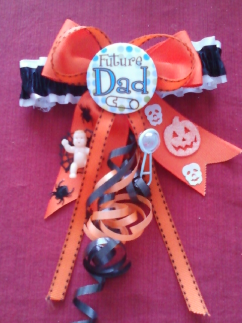 Custom Baby Shower Garter Or Homecoming Garter  A Custom Garter LIKE This  Can Be Made For $15.00 And Up.You Can Choose Specifications Such As Garter  Theme, ...